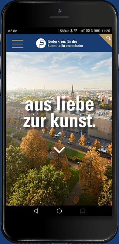 Förderkreis für die Kunsthalle Mannheim e.V. Webdesign