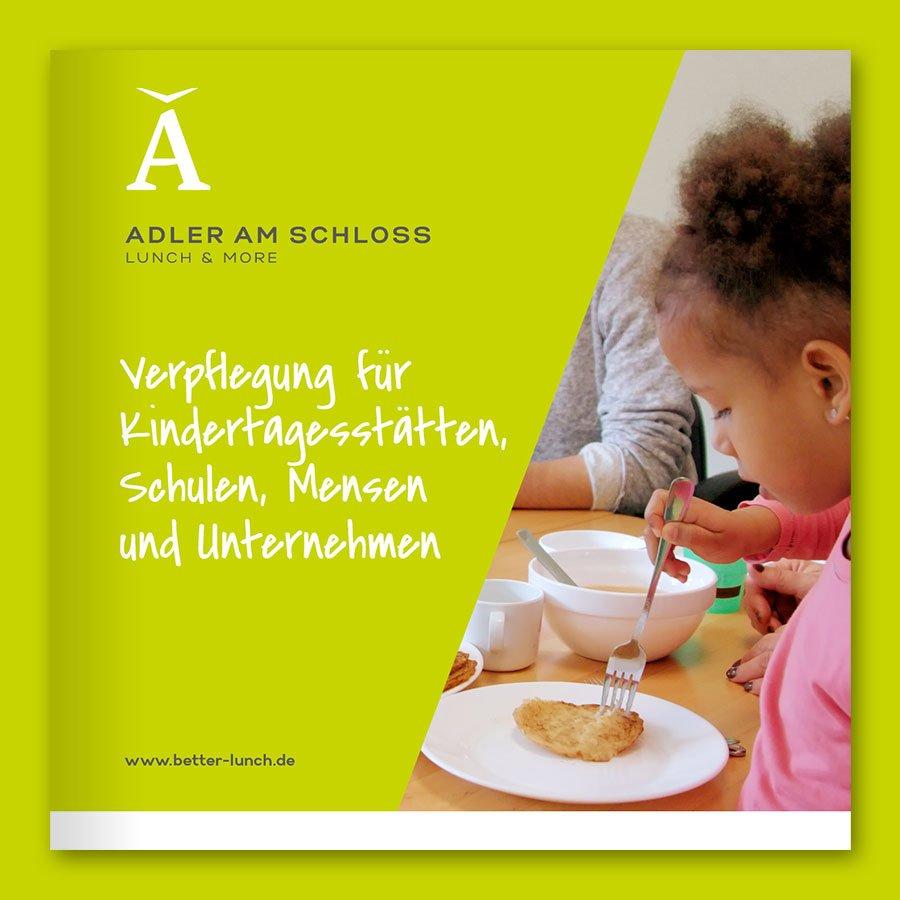 Adler am Schloss Lunch & More Broschüre