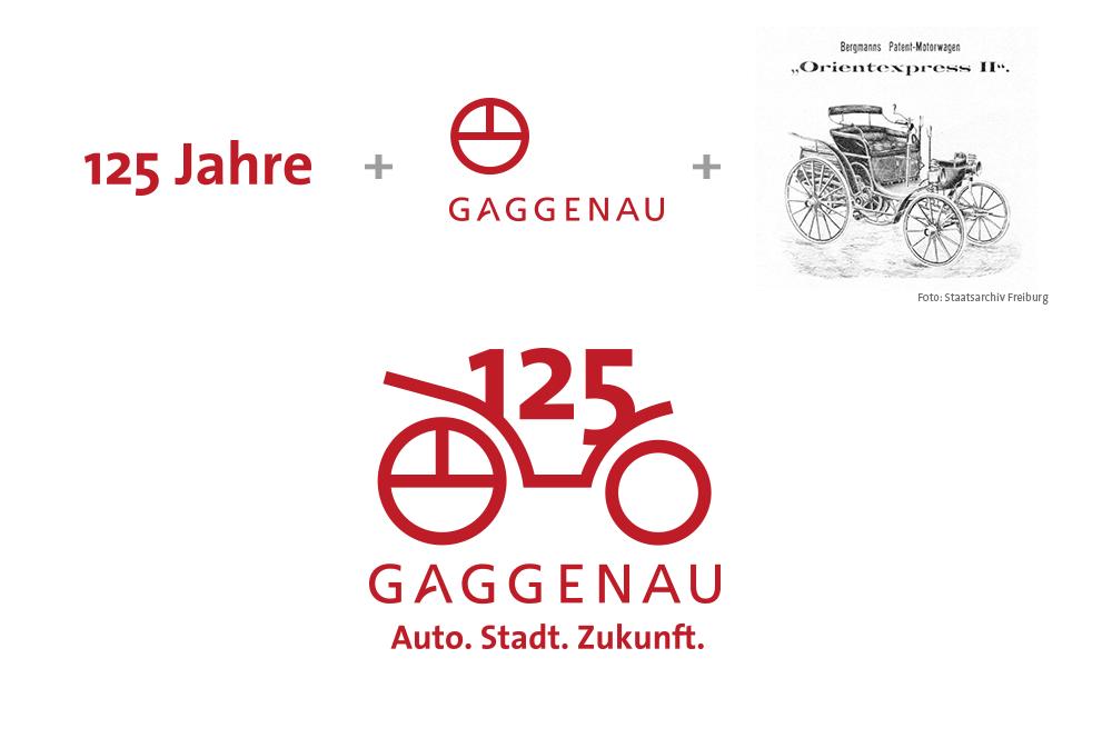 Gaggenau 125 Jahre Automobilbau Logoherleitung
