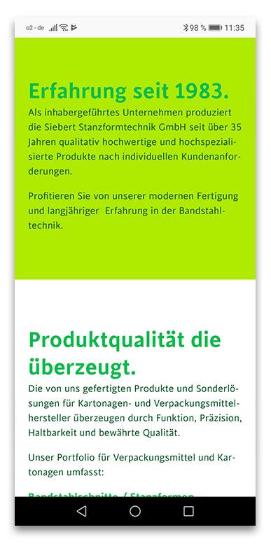Siebert Stanzformtechnik GmbH Gaggenau Webdesign