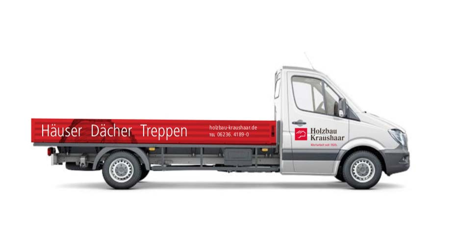 Holzbau Kraushaar Neuhofen Fahrzeug