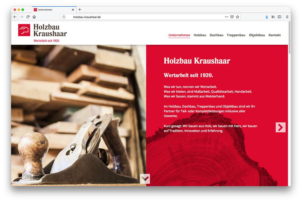 Holzbau Kraushaar Neuhofen Webdesign