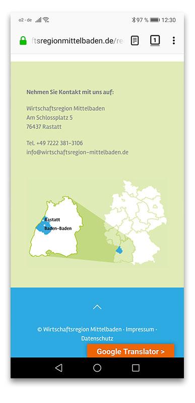 Wirtschaftsregion Mittelbaden Webdesign